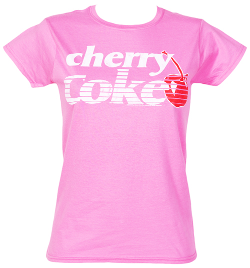 Ladies Cherry Coke Logo T-Shirt from Fame and