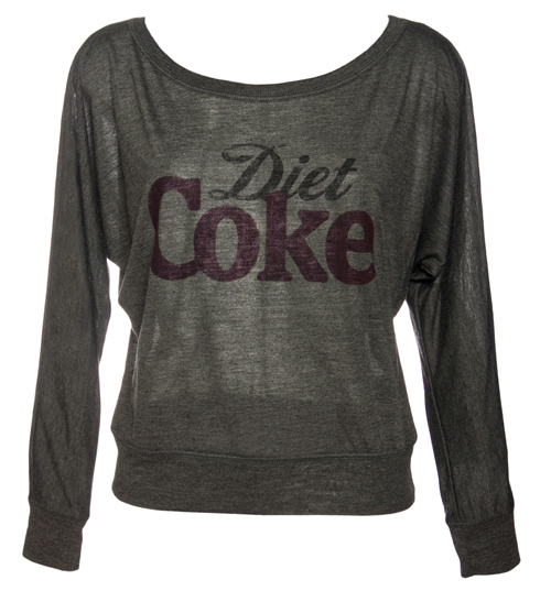 Fame and Fortune Ladies Diet Coke Off The Shoulder Lightweight