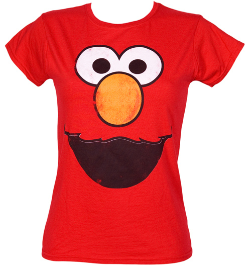 Fame and Fortune Ladies Elmo Face Sesame Street T-Shirt from Fame product image