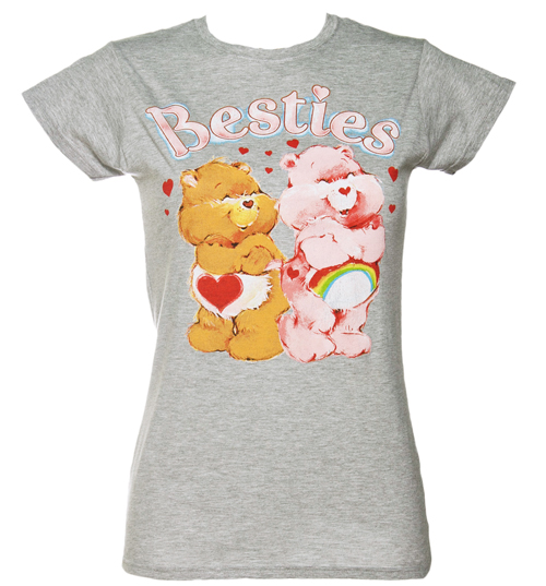 Fame and Fortune Ladies Grey Care Bears Besties T-Shirt from Fame product image