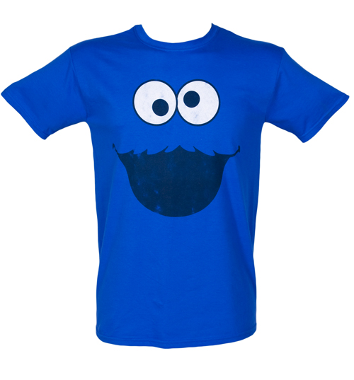 Fame and Fortune Mens Cookie Monster Face Sesame Street product image