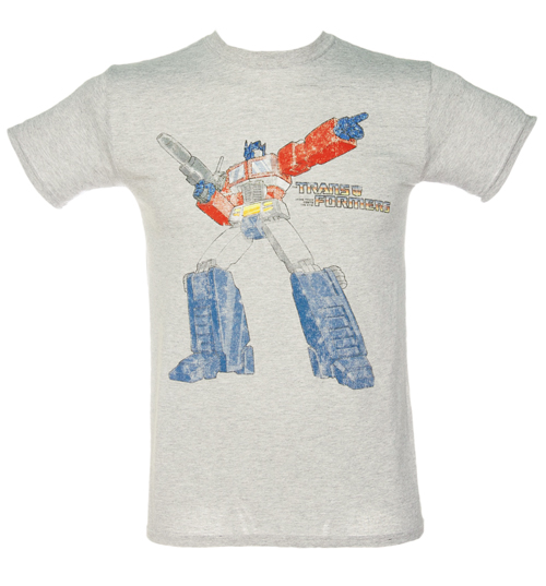 Fame and Fortune Mens Grey Transformers T-Shirt from Fame product image