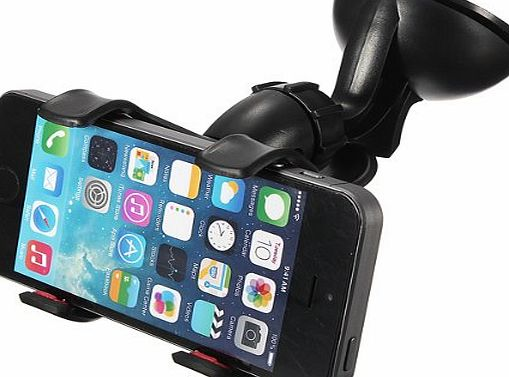 Universal Phone Mount Holder 360 Degrees Rotation Suction Cup Car Windshield for 5S S5 Note 3 LG HTC By FamilyMall