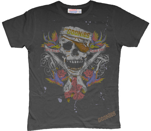 Goonies Tattoo Men` Black T-Shirt from Famous Forever