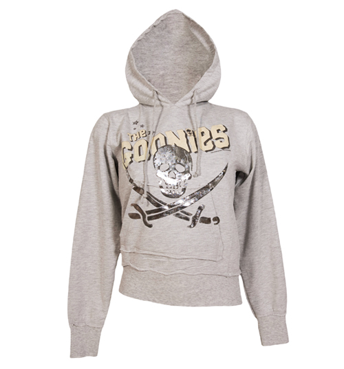 Ladies Grey Goonies Crossed Swords Hoodie from