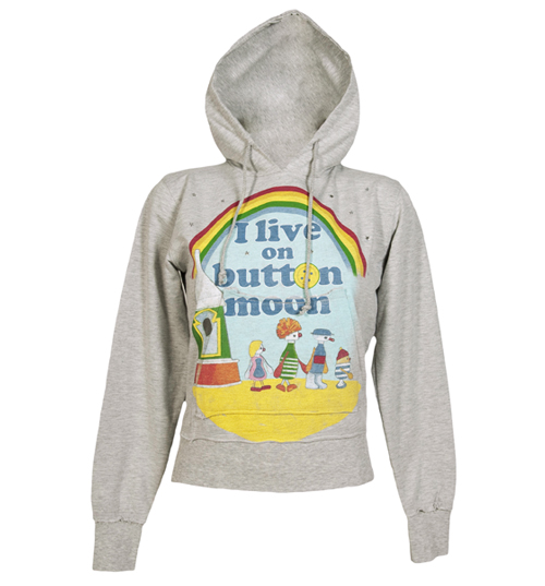 Famous Forever Ladies Grey I Live On Button Moon Hoodie from product image