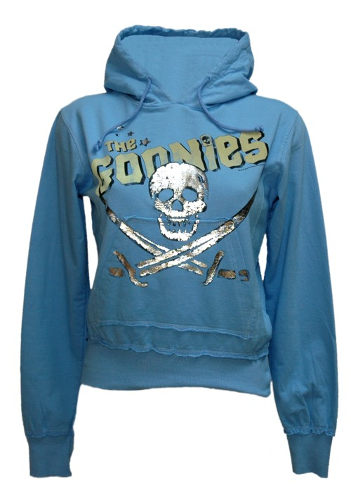 Ladies Light Blue Goonies Crossed Swords Hoodie