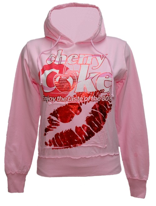 Ladies Pink Cherry Coke Hoodie from Famous Forever