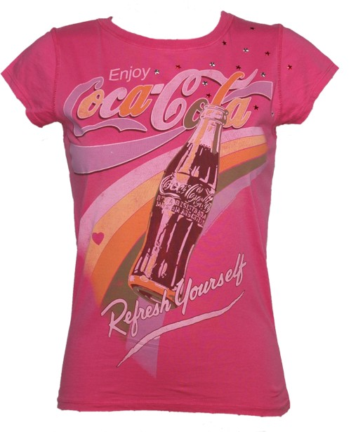 Refresh Yourself Ladies Coca Cola T-Shirt from Famous Forever