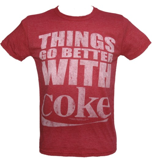 Things Go Better With Coke Men` T-Shirt from Famous Forever