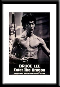 FamousRetail Bruce Lee and#39;Enter The Dragonand39; film poster