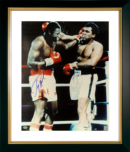 FamousRetail Larry Holmes signed photo framed