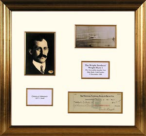 FamousRetail Orville Wright signed cheque