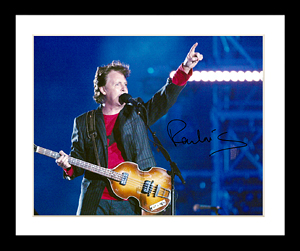 FamousRetail Paul McCartney signed 11x14 photo
