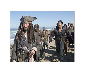 FamousRetail Pirates of the Caribbean unsigned 10x8 photo