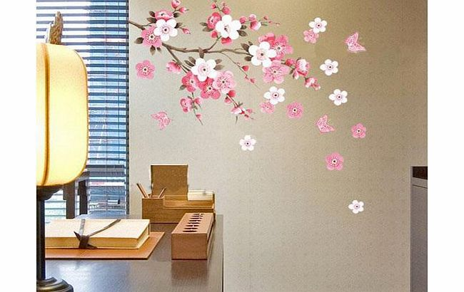 Fancyqube Wall Sticker Flowers Butterfly Decal Art Diy Home Wall Decor Yhf 0110 S Review