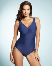 Bahamas Underwired Swimsuit - French Navy