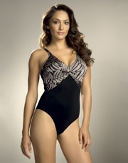 Goa Twist Front Swimsuit - Black