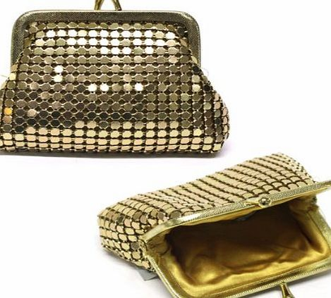 FARFALLA Chainmail Purse Color-Gold