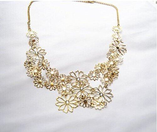 Fashion Necklace JA312 Womens 2014 Fashion Summer Sweet Design Flower Long Necklace, Elegant Costume Necklace product image