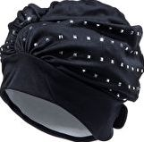 Fashy, 1294[^]185411 Exclusive Swim Cap - Black and Silver