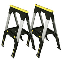Telescopic Metal Sawhorse Twin Pack