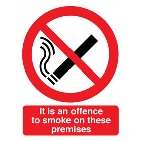 FAW It is an offence to smoke on these premises product image