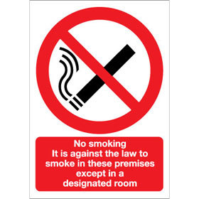 No Smoking in these premises except in a