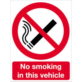 FAW No smoking in this vehicle product image