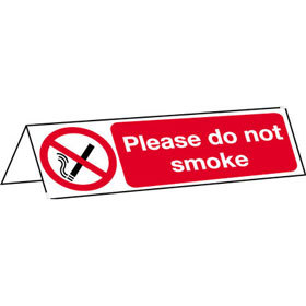 FAW Please Do Not Smoke Table Top Sign product image