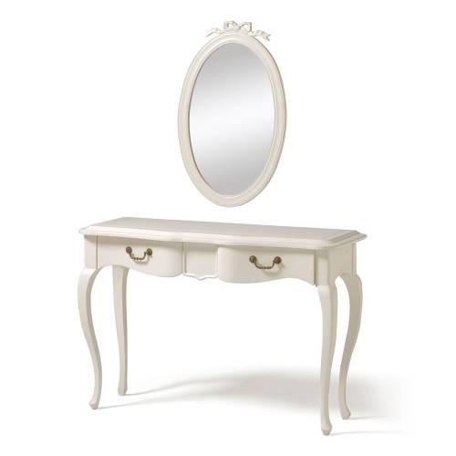 Бонуc Столик туалетный с зеркалом Компактный туалетный столик с удобной нишей под зеркалом