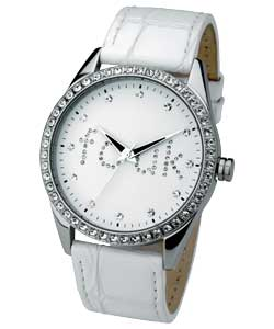 Ladies Watches In Silver With White