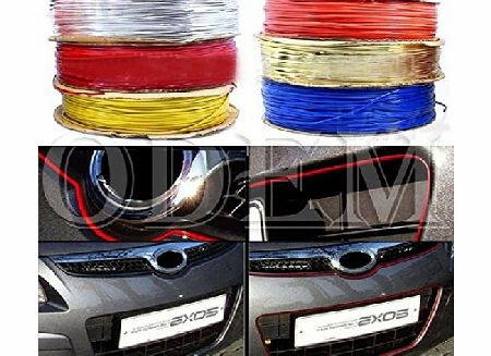 New 1M DIY Car Interior & Exterior Decoration Moulding Trim Colored Strip Line Silver