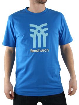Fenchurch Bright Blue Icon Logo T-Shirt product image