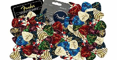 Fender Celluloid Guitar Picks Plectrums 12 X Random Mixed Pearl Colours (Thin) product image