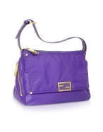 Fendi purple nylon and leather