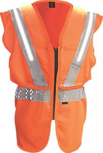 Fhoss, 1228[^]4911G Illuminated Hi-Vis Vest Orange Large / X
