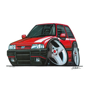 T Shirts Fiat Uno Turbo Red T S