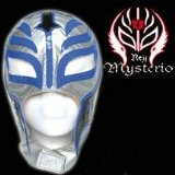 Series 2 WWE Rey Mysterio Kid Size Replica Silver Mask. Officially Licensed by WWE. Made directly from Rey Mysterios own mask. Fits kids ages 8 and up (Barcode EAN = 5060162591896). - CLICK FOR MORE INFORMATION