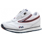 Childrens Flair Twin Zip Trainer White/Navy/Red