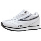 Junior Flair Twin Zip Trainer White/Black/Silver