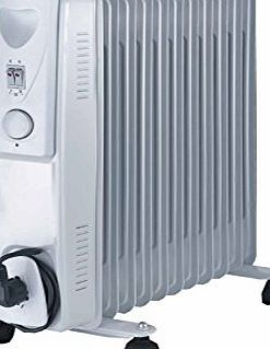 Fine Elements 11-Fin Oil Filled Radiator, 2500 W