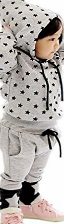Kids Star Print Clothing Set Baby Boy Hooded Tops + Pants Suits 2pcs/set