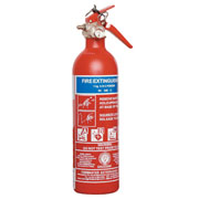 1kg This extinguisher is designed for all commercial and industrial premises agricultural machinery garages and live electrical equipment. It is fully servicable and refillable to BS6643 Part 1 has a fire test rating of 8A 34B and is accredited to BS - CLICK FOR MORE INFORMATION