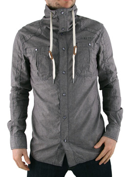Firetrap Grey Vision Funnel Neck Shirt product image