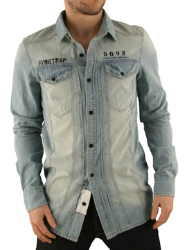 Firetrap Light Wash Denim Woodstock Shirt product image