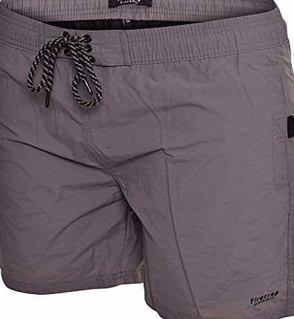 Firetrap Mens Delmater Swim Shorts - Pewter -Grey -Large