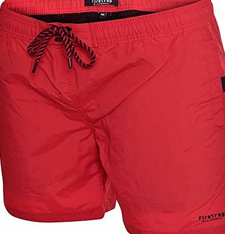 Firetrap Mens Swimming Shorts Trunks Drawcord Beach Casual Mesh Lined Medium (32``-34``) Navy blue