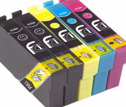 First Call Inks 5 18XL Ink Cartridges Replaces Epson Printer Inks XP102, XP202, XP205, XP212, XP215, XP225, XP30, XP302, XP305, XP312, XP315, XP322, XP325, XP402, XP405, XP412, XP415, XP422, XP425