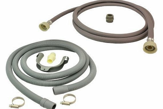 Universal Fill Water Pipe and Drain Hose Extension Kit for Bosch Dishwashers 2.5m